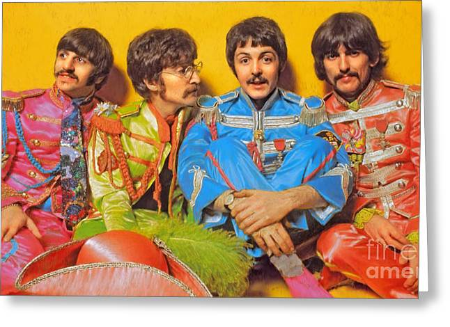 Lonely Hearts Club Band Greeting Cards - Sgt. Peppers Lonely Hearts Club Band Greeting Card by Stephen Shub