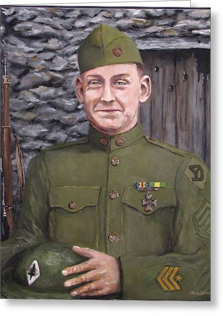 Doughboy Paintings Greeting Cards - Sgt Sam Avery Greeting Card by Jack Skinner