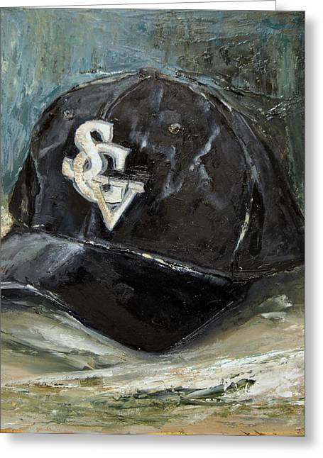Baseball Paintings Greeting Cards - SGV Baseball Greeting Card by Lindsay Frost