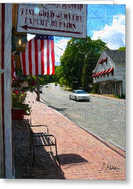 Townscape Digital Art Greeting Cards - Sh - 68 Greeting Card by Glen River