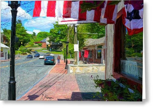 Townscape Digital Art Greeting Cards - Sh - 70 Greeting Card by Glen River