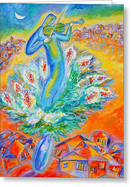 Jewish Greeting Cards - Shabbat Shalom Greeting Card by Leon Zernitsky