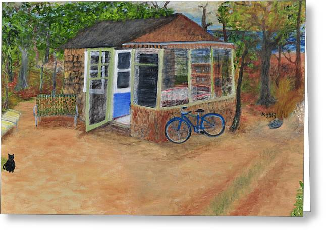 Shack Greeting Cards - Shack in Truro Greeting Card by Robin Manning
