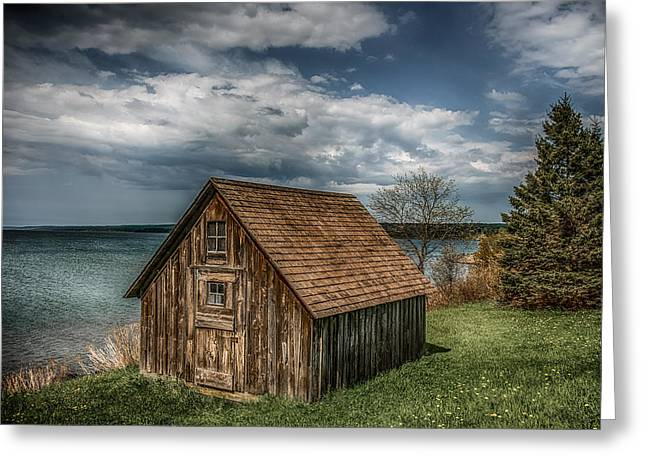 North Shore Greeting Cards - Shack On Superior Greeting Card by Paul Freidlund