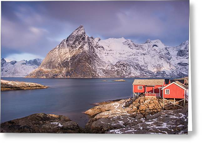Arctic Circle Greeting Cards - Shack with a View Greeting Card by Michael Blanchette