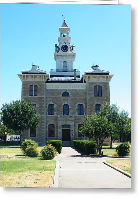 Best Sellers -  - Gypsy Greeting Cards - Shackelford County Courthouse Greeting Card by The GYPSY And DEBBIE