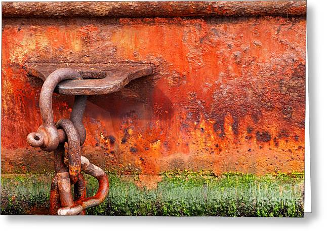 Shackle Greeting Card by Rick Piper Photography