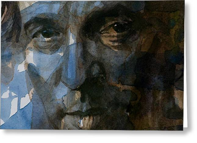 Bruce Springsteen. Greeting Cards - Shackled and Drawn Greeting Card by Paul Lovering