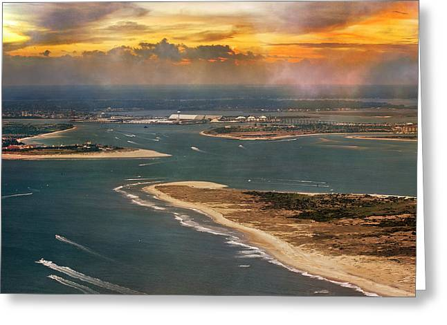Atlantic Beaches Greeting Cards - Shackleford Banks Fort Macon North Carolina Greeting Card by Betsy A  Cutler