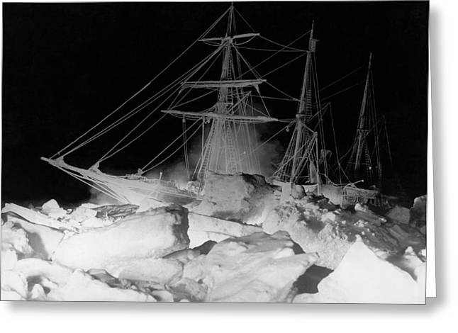 Shackleton's Ship, Endurance Greeting Card by Underwood Archives