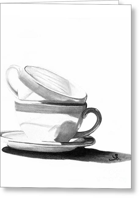 Stack Drawings Greeting Cards - Shade Greeting Card by Denise Deiloh