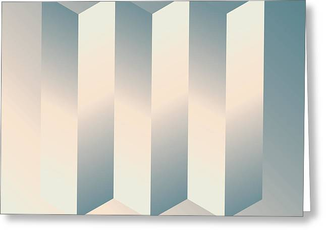 Geometric Design Digital Art Greeting Cards - Shaded Columns Greeting Card by Gary Grayson