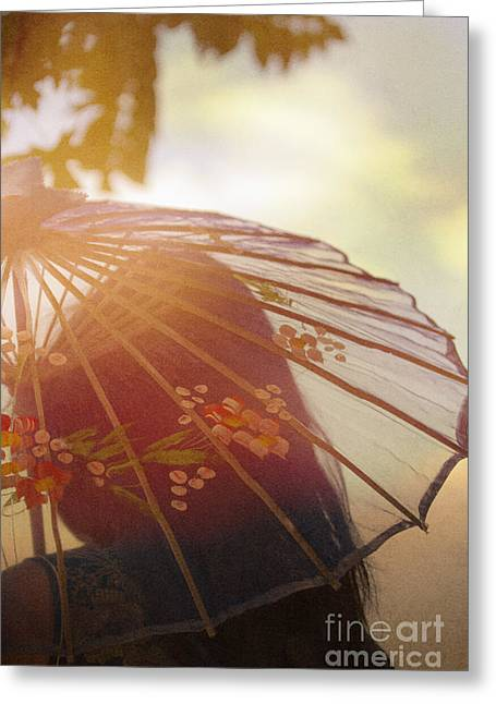 Chinese Woman Greeting Cards - Shaded from the Sun Greeting Card by Margie Hurwich