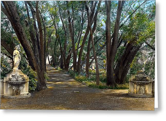 Kinkade Greeting Cards - Shaded Path Greeting Card by Terry Reynoldson
