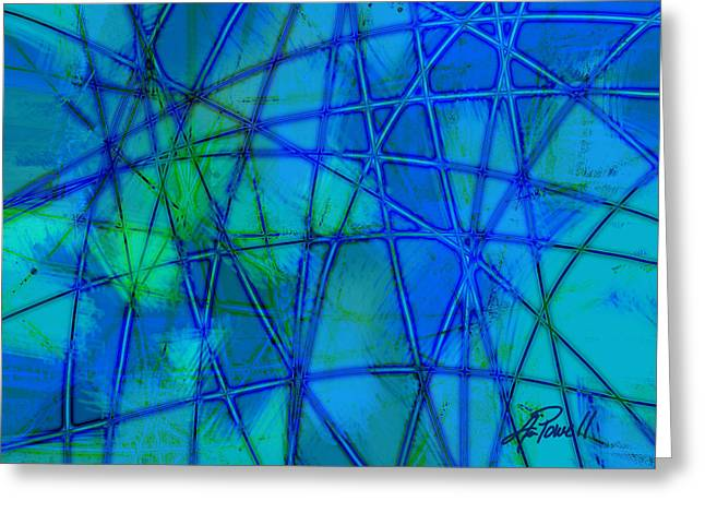 Blue And Green Greeting Cards - Shades of Blue   Greeting Card by Ann Powell