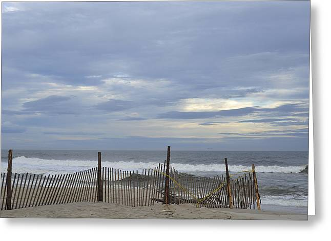 Seaside Heights Greeting Cards - Shades of Blue Seaside Heights NJ Greeting Card by Terry DeLuco