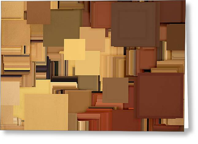 Shades Of Brown Greeting Card by Lourry Legarde