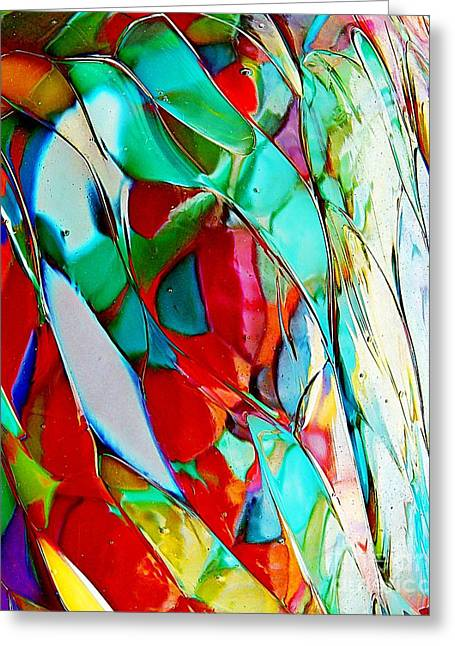 Geometric Style Greeting Cards - Shades Of Excitement Greeting Card by Marcia Lee Jones