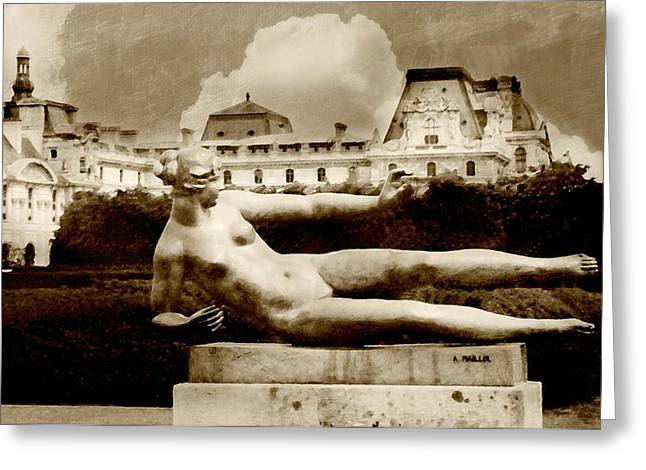 The Tuileries Gardens Greeting Cards - Shades of Grace Greeting Card by Diana Angstadt