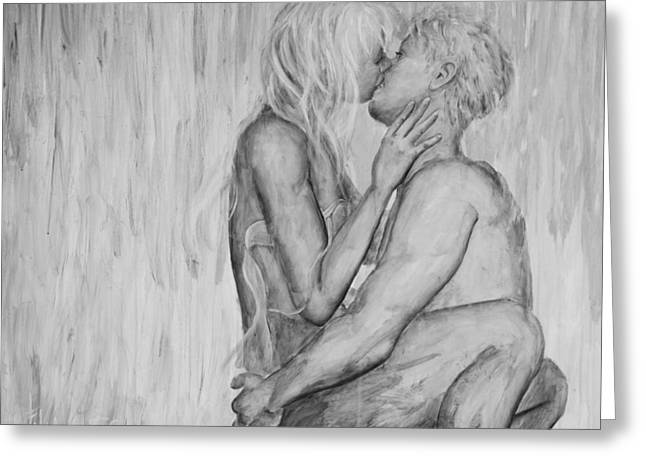 Shades Of Grey - Wet Romance Greeting Card by Nik Helbig