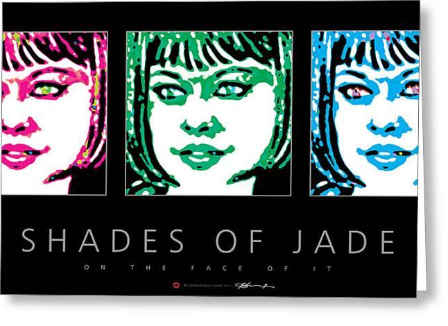 Posters Greeting Cards - Shades Of Jade Poster Greeting Card by David Davies