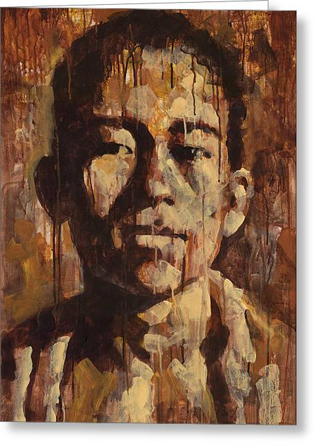 Brushwork Greeting Cards - Shades of Khanh Greeting Card by Douglas Simonson