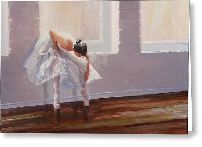 Ballet Dancers Greeting Cards - Shades of Lavender Greeting Card by Laura Lee Zanghetti