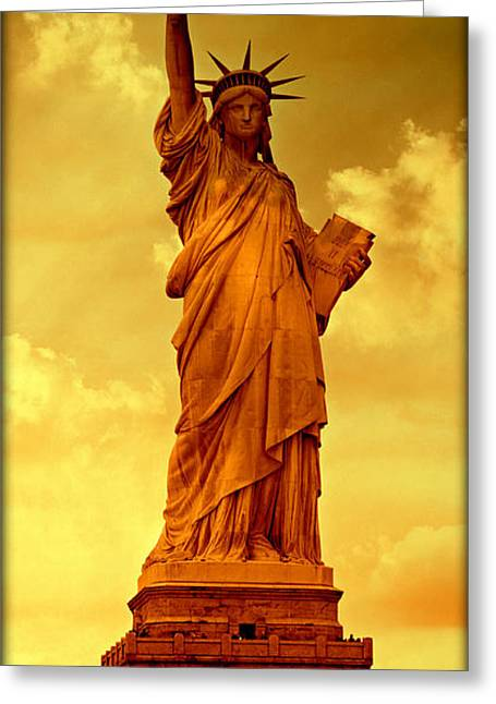 Equality Greeting Cards - Shades of Liberty No 2 Greeting Card by Stephen Stookey