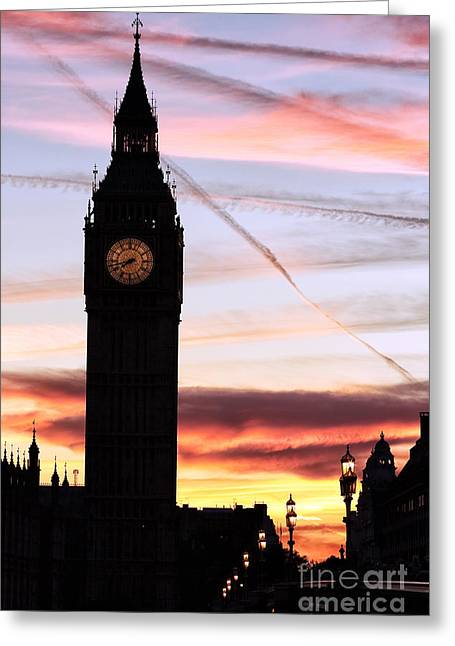 Shades Of Red Greeting Cards - Shades of London Greeting Card by John Rizzuto