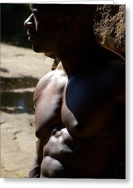 Stock Muscle Photos Greeting Cards - Shades of Muscle Greeting Card by Jake Hartz