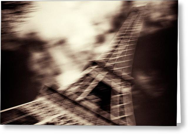 Abstract Movement Greeting Cards - Shades of Paris Greeting Card by Dave Bowman
