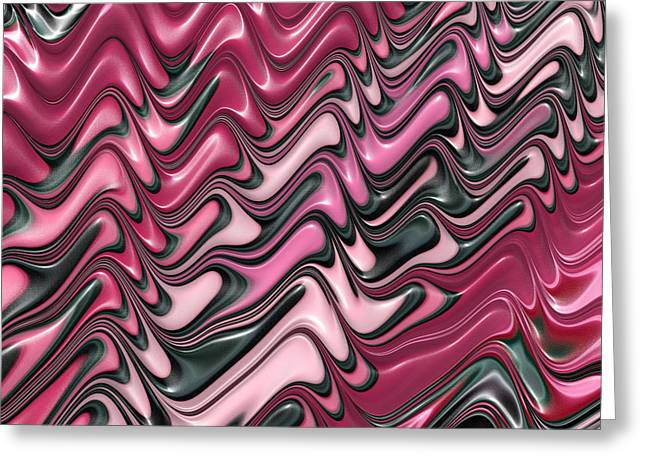 Shades Of Red Digital Art Greeting Cards - Shades of pink and red decorative design Greeting Card by Matthias Hauser