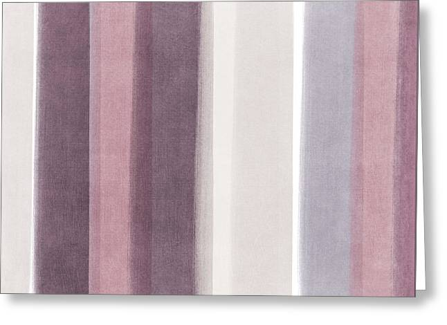 Bedroom Art Greeting Cards - Shades of Purple- contemporary abstract painting Greeting Card by Linda Woods