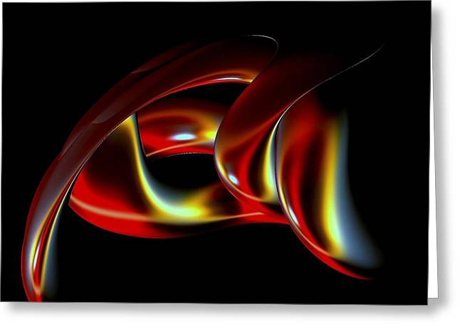 Shades of Red Greeting Card by Greg Moores