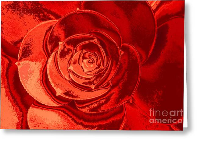 Shades Of Red Greeting Cards - Shades of Red Greeting Card by Lynn Sprowl