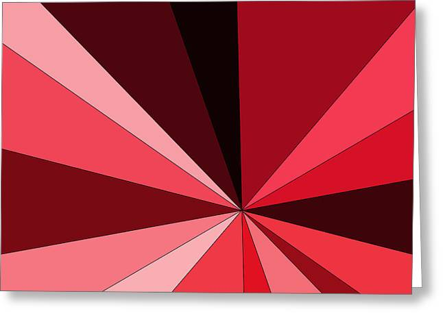 Shades Of Red Digital Art Greeting Cards - Shades of Red  Greeting Card by Panatda Chiompen