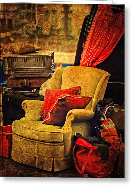 Old Stuff Greeting Cards - Shades of the Past. Flea Market. Amsterdam Greeting Card by Jenny Rainbow
