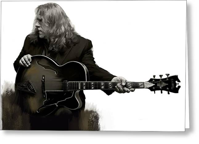 Main Street Greeting Cards - Shades of Tone III Warren Haynes  Greeting Card by Iconic Images Art Gallery David Pucciarelli