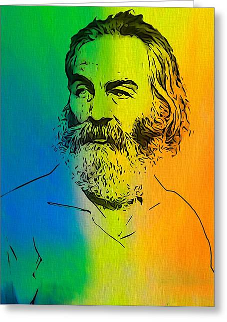 Shade Mixed Media Greeting Cards - Shades Of Walt Whitman Greeting Card by Dan Sproul