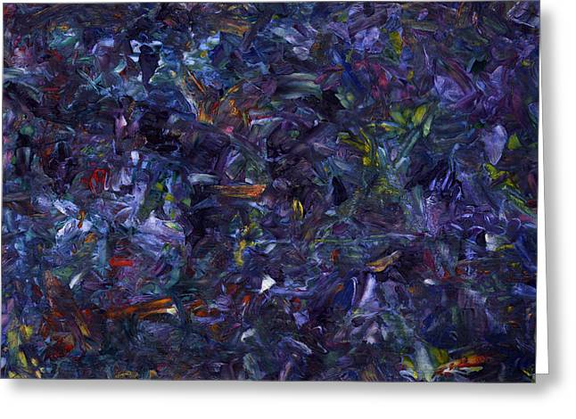 Purple Abstract Greeting Cards - Shadow Blue Greeting Card by James W Johnson