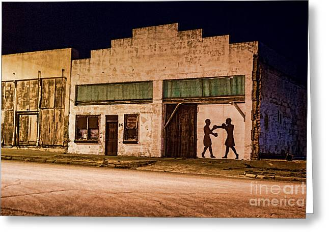 Shadow Boxing Greeting Card by Gary Holmes