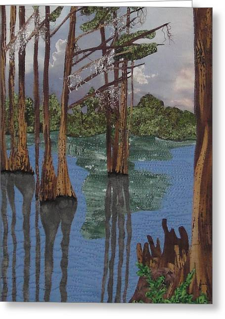 Lake Tapestries - Textiles Greeting Cards - Shadow Dancing at Greenfield Lake Greeting Card by Anita Jacques