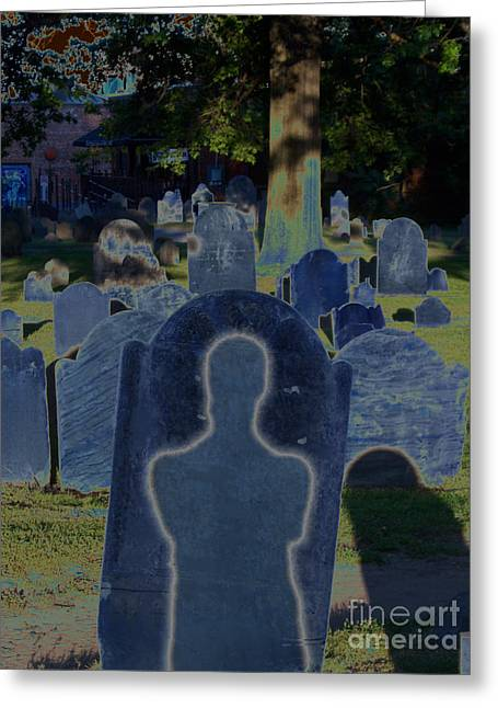 Samhaim Greeting Cards - Shadow Grave  Greeting Card by First Star Art