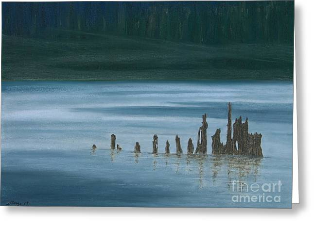 The North Pastels Greeting Cards - Shadow Host in The Mist Greeting Card by Stanza Widen