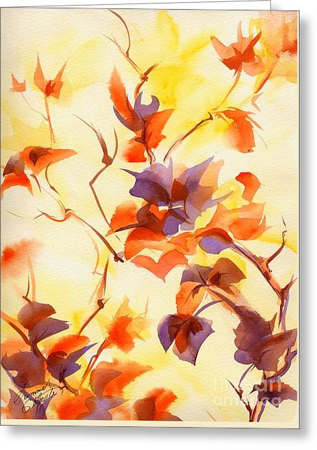 Summer Celeste Greeting Cards - Shadow Leaves Greeting Card by Summer Celeste