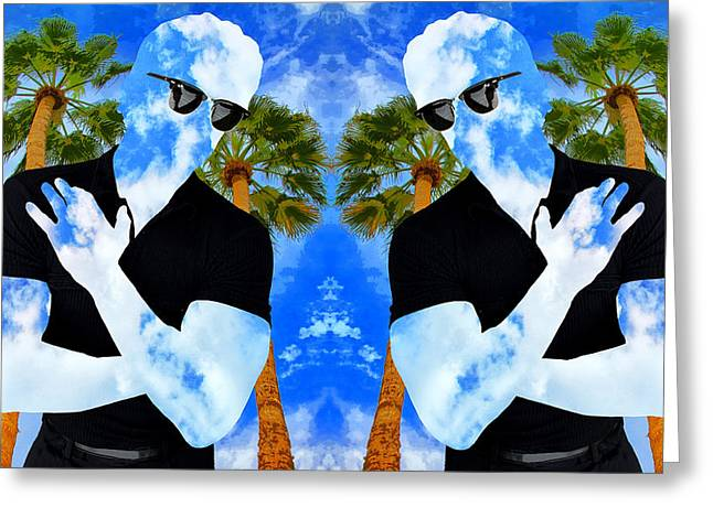 Featured Art Greeting Cards - SHADOW MEN 2 Palm Springs Greeting Card by William Dey