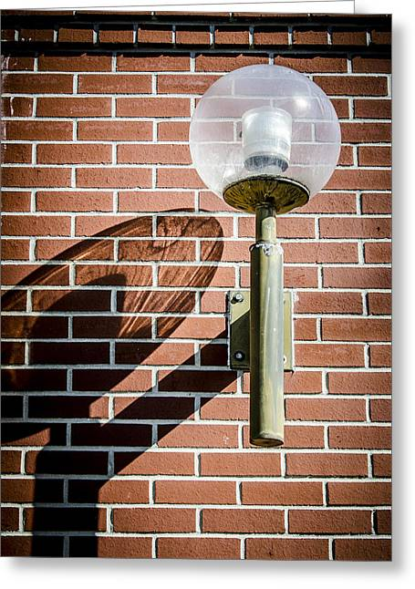 Old Street Greeting Cards - Shadow Of A Lamp Greeting Card by Carolyn Marshall