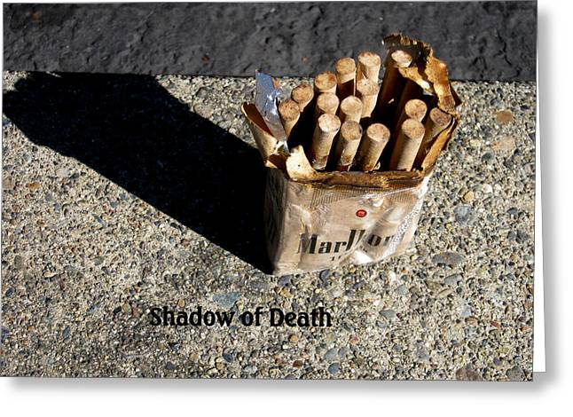 Marie Neder Greeting Cards - Shadow of Death Greeting Card by Marie Neder