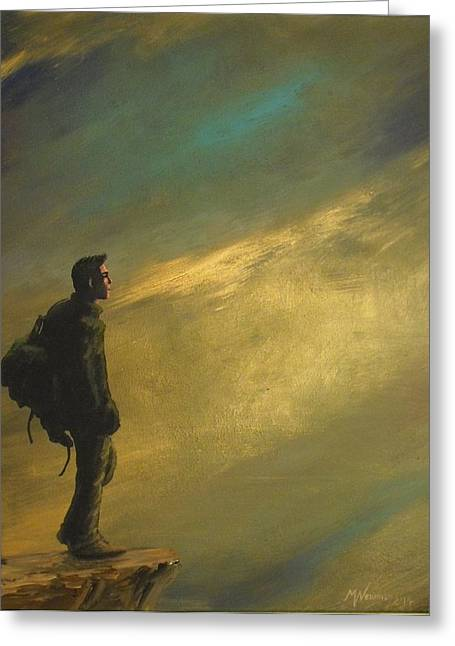 Backpacking Paintings Greeting Cards - Shadow of the colossus Greeting Card by Markus Newman