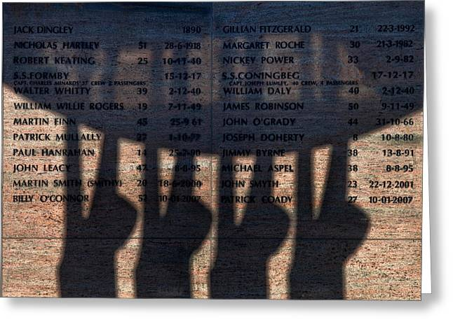Fishing Port Greeting Cards - Shadow Of The Fishermens Memorial Greeting Card by Panoramic Images
